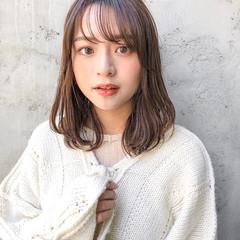ヨシンモリ ナチュラル セミロング 韓国ヘア ヘアスタイルや髪型の写真・画像