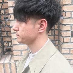 メンズパーマ ショート ナチュラル メンズカット ヘアスタイルや髪型の写真・画像