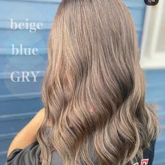 セミロング ブリーチなし イルミナカラー 透明感カラー ヘアスタイルや髪型の写真・画像