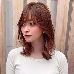 ヘルシースタイル 透明感 レイヤーカット ミディアム ヘアスタイルや髪型の写真・画像