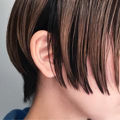ナチュラル ショート 外国人風 インナーカラー ヘアスタイルや髪型の写真・画像