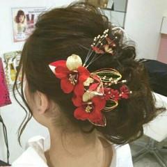 成人式 ヘアアレンジ 大人女子 ナチュラル ヘアスタイルや髪型の写真・画像
