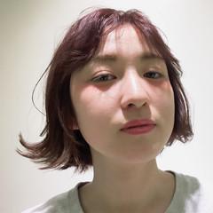 ヘアアレンジ ボブ 前髪あり センターパート ヘアスタイルや髪型の写真・画像