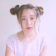 ミディアム ヘアアレンジ 外国人風 フェミニン ヘアスタイルや髪型の写真・画像