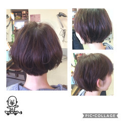ショート 耳かけ ショートボブ ボブ ヘアスタイルや髪型の写真・画像