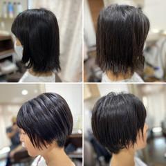 ショートボブ デジタルパーマ ショート 髪質改善 ヘアスタイルや髪型の写真・画像