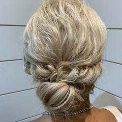ゆるふわセット ナチュラル ヘアアレンジ 結婚式ヘアアレンジ ヘアスタイルや髪型の写真・画像