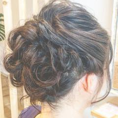 簡単ヘアアレンジ エレガント 結婚式 ヘアアレンジ ヘアスタイルや髪型の写真・画像