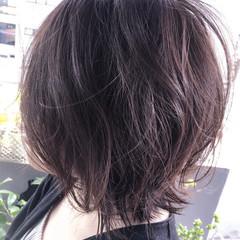 パーマ リラックス 上品 ボブ ヘアスタイルや髪型の写真・画像