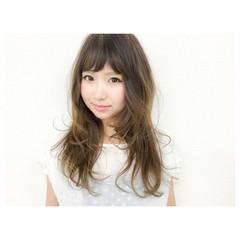 ガーリー 前髪あり 外国人風 ロング ヘアスタイルや髪型の写真・画像