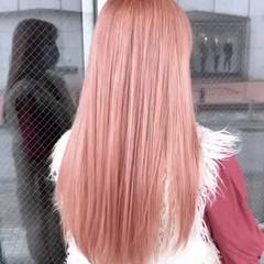 外国人風 ダブルカラー 秋冬スタイル ハイトーン ヘアスタイルや髪型の写真・画像