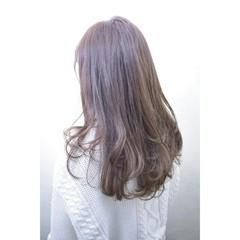 大人かわいい レイヤーカット ベージュ ロング ヘアスタイルや髪型の写真・画像