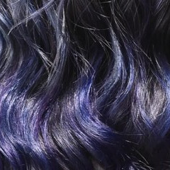 グラデーションカラー バレイヤージュ セミロング ストリート ヘアスタイルや髪型の写真・画像