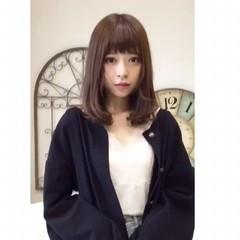 ガーリー 透明感 ミディアム 秋 ヘアスタイルや髪型の写真・画像
