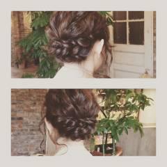 大人かわいい ボブ フェミニン ヘアアレンジ ヘアスタイルや髪型の写真・画像