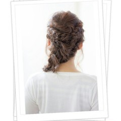 ピュア ヘアアレンジ モテ髪 ワイドバング ヘアスタイルや髪型の写真・画像