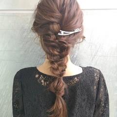 エレガント 簡単ヘアアレンジ ロング 大人女子 ヘアスタイルや髪型の写真・画像