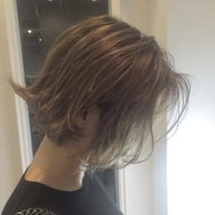 グラデーションカラー 外国人風 ボブ ハイライト ヘアスタイルや髪型の写真・画像
