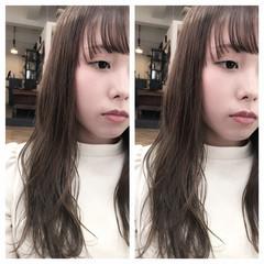 ロング ウェットヘア 外国人風 ハイライト ヘアスタイルや髪型の写真・画像