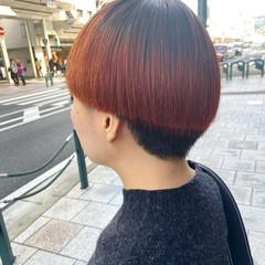 アプリコットオレンジ オレンジカラー ガーリー ブリーチカラー ヘアスタイルや髪型の写真・画像