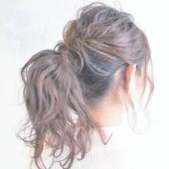 大人かわいい アップスタイル ストリート ウェーブ ヘアスタイルや髪型の写真・画像