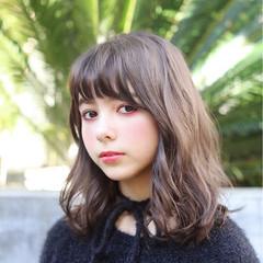 アンニュイ 外国人風 大人かわいい ミディアム ヘアスタイルや髪型の写真・画像