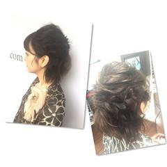 波ウェーブ ヘアアレンジ 編み込み 結婚式 ヘアスタイルや髪型の写真・画像
