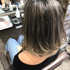 ハイライト 秋 ヘアアレンジ ボブ ヘアスタイルや髪型の写真・画像