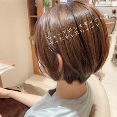 フェミニン 小顔ショート 丸みショート ショートヘア ヘアスタイルや髪型の写真・画像