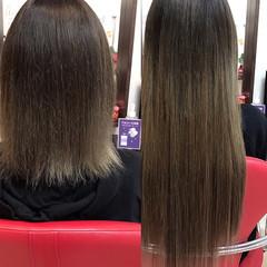 ストレート 韓国ヘア エクステ ナチュラル ヘアスタイルや髪型の写真・画像