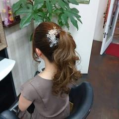ヘアアレンジ ナチュラル ロング ポニーテール ヘアスタイルや髪型の写真・画像