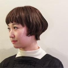 暗髪 色気 ボブ ダークアッシュ ヘアスタイルや髪型の写真・画像