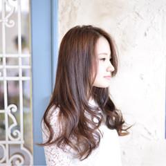 外国人風 ゆるふわ アッシュ セミロング ヘアスタイルや髪型の写真・画像