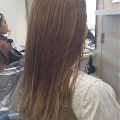 ロング 渋谷系 アッシュ ダブルカラー ヘアスタイルや髪型の写真・画像