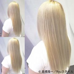 ストリート ロング ベージュ ホワイト ヘアスタイルや髪型の写真・画像