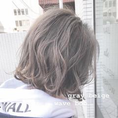 前下がりボブ 切りっぱなしボブ ミニボブ ナチュラル ヘアスタイルや髪型の写真・画像