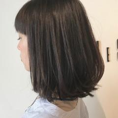 黒髪 似合わせカット フェミニン ミディアム ヘアスタイルや髪型の写真・画像