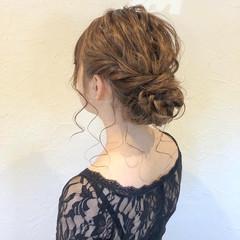 簡単ヘアアレンジ セミロング ヘアアレンジ 結婚式ヘアアレンジ ヘアスタイルや髪型の写真・画像