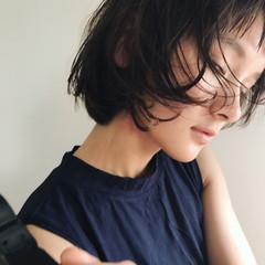 前髪あり ショートバング ショート 小顔 ヘアスタイルや髪型の写真・画像