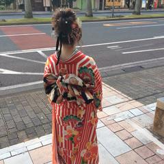 成人式ヘア 成人式 ヘアアレンジ セミロング ヘアスタイルや髪型の写真・画像