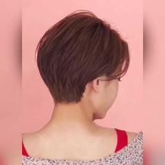 ショート パーマ 大人可愛い ナチュラル ヘアスタイルや髪型の写真・画像