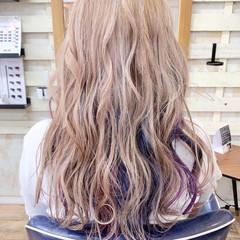 ブリーチオンカラー ストリート ロング ブリーチカラー ヘアスタイルや髪型の写真・画像