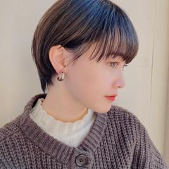 前髪あり シースルーバング ショートボブ ショート ヘアスタイルや髪型の写真・画像