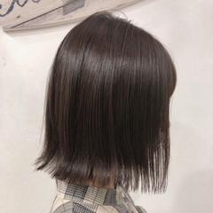 切りっぱなし 透明感 外ハネ ナチュラル ヘアスタイルや髪型の写真・画像