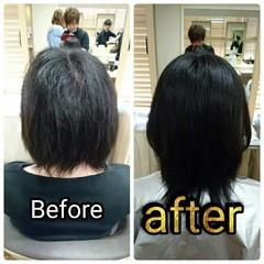 色気 ナチュラル 黒髪 ストレート ヘアスタイルや髪型の写真・画像