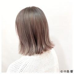 アッシュ ボブ ブリーチ 透明感 ヘアスタイルや髪型の写真・画像
