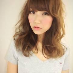 ミディアム ガーリー 春 モテ髪 ヘアスタイルや髪型の写真・画像