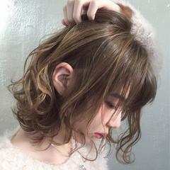 大人かわいい アッシュ 外国人風 ボブ ヘアスタイルや髪型の写真・画像