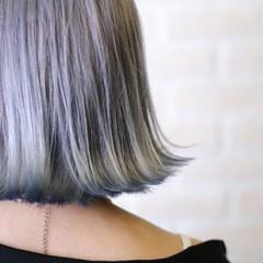 ダブルカラー 切りっぱなし グラデーションカラー ボブ ヘアスタイルや髪型の写真・画像