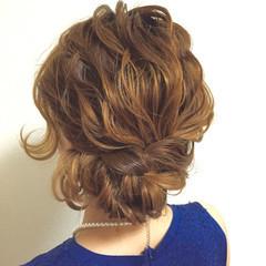 簡単ヘアアレンジ ショート ミディアム ヘアアレンジ ヘアスタイルや髪型の写真・画像